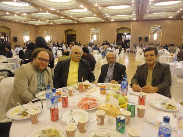 مستر تستر در جمع اعضای هیئت موسس انجمن مجموعه داران ایران